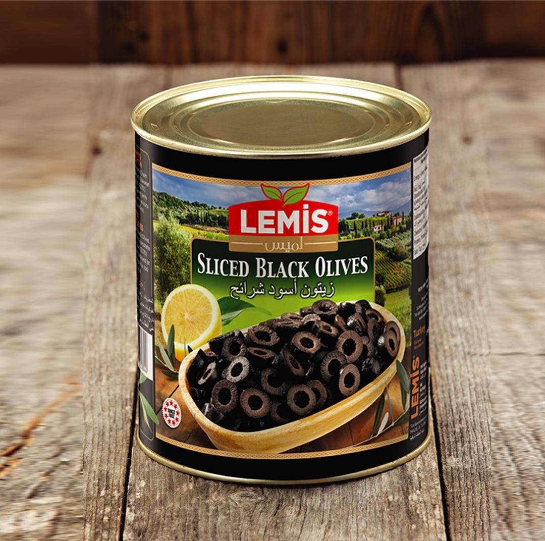 Lemis Dilimli Siyah Zeytin 2800 gr.